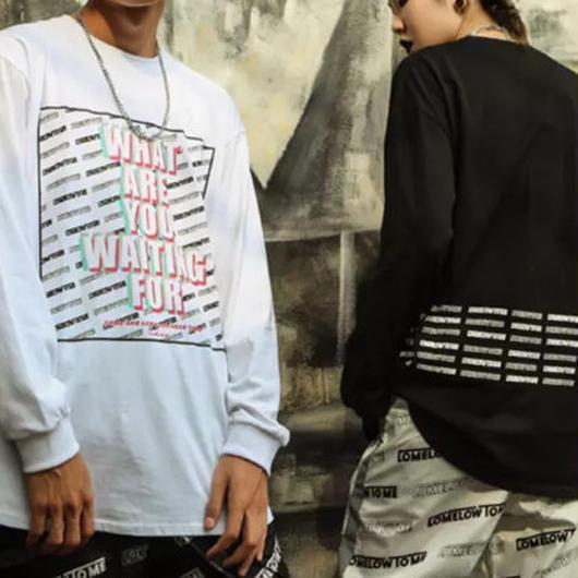 【大人気】WHAT ARE YOUロングTシャツ 2カラー