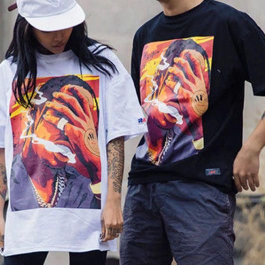 [HOT]HIPHOPデザインTシャツ 2カラー