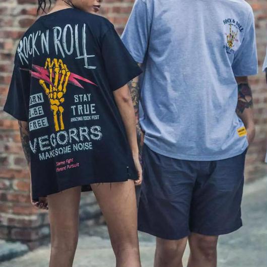 【売れ筋】ROCK'N ROLLデザインTシャツ 3カラー
