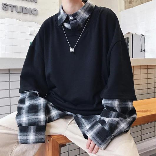 【DOPE】チェックレイヤープルオーバーシャツ 2カラー