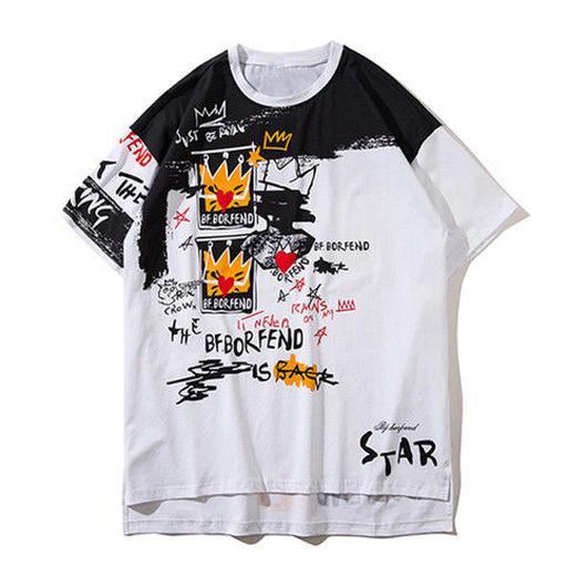 [大人気]StarペイントデザインTシャツ 4カラー
