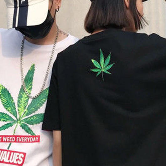 [大人気]ウィードデザインTシャツ 2カラー