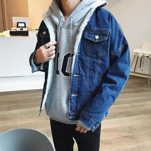 【COOL】裏起毛デニムジャケット 2カラー