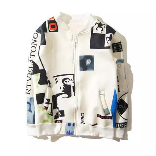 [NEW]イラストアートデザインジャケット 2カラー