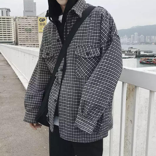 【トレンド】チェックレトロデザインジャケット