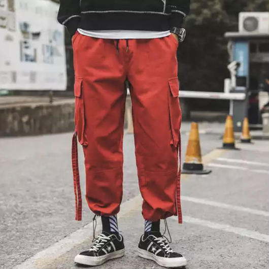 【COOL】ロング紐デザインラフパンツ 3カラー