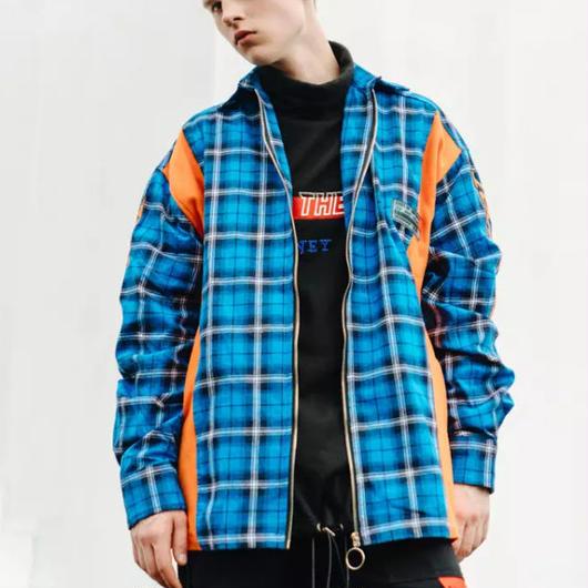 【大人気】HEADSHOTチェックデザインジャケット 3カラー