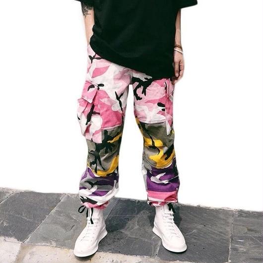 【売れ筋】カラフル迷彩パンツ 2カラー