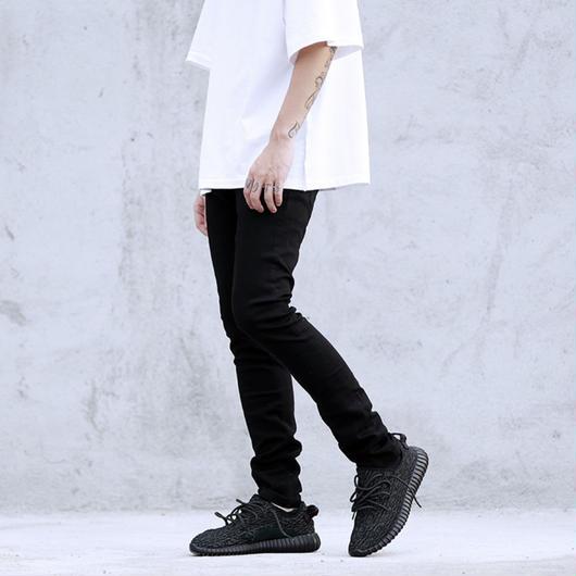 【COOL】ストリート風ブラックスキニーパンツ