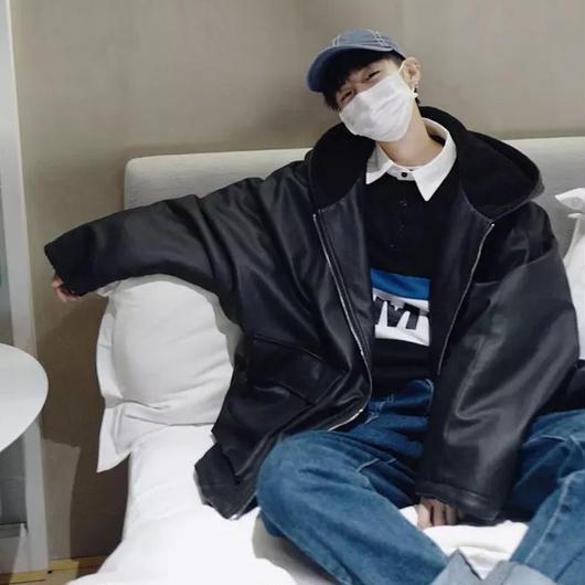 【DOPE】レザーフードデザインジャケット 2カラー