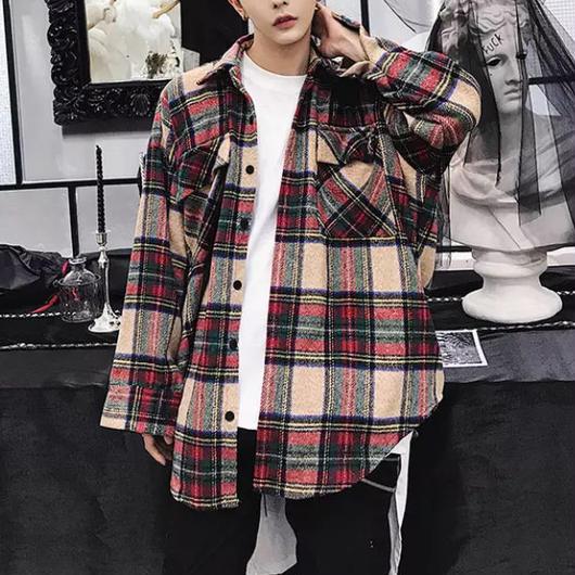 【大人気】ビックサイズブラウンフランネルシャツ