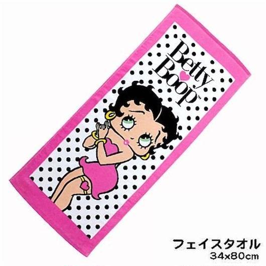 Betty Boop プリント フェイスタオル(2カラー)