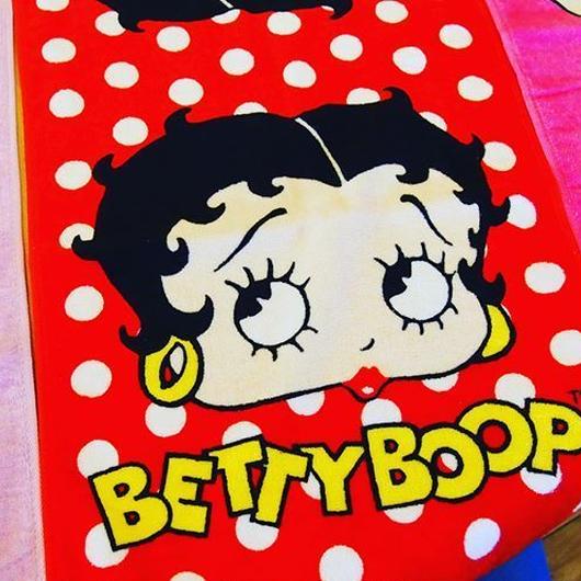 Betty Boop プリント フェイスタオル(BB001/DOT)