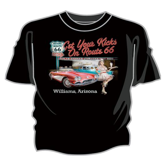 Tシャツ RT.66 ピンナップ ダイナー