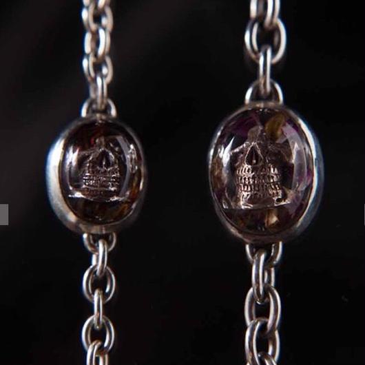 flower skull bracelet (S)