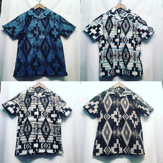 sale【日本製】ネイティブシーチングオープン半袖シャツ