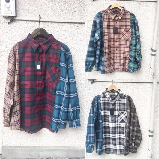 ネルシャツ3切り替えオーバーシャツ