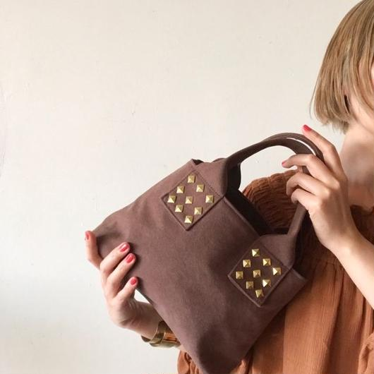 canvas tote bag mini (brown)