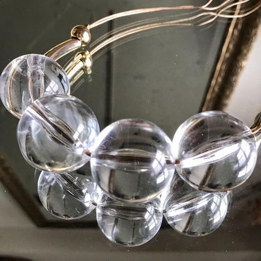 clear ball necklace