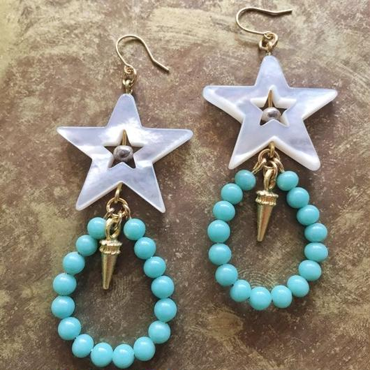 japan glass beads pierce(light blue)