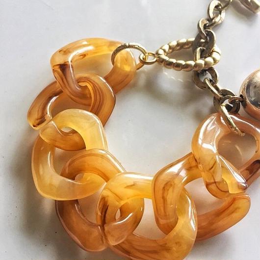 japan vintage lucite chain bracelet