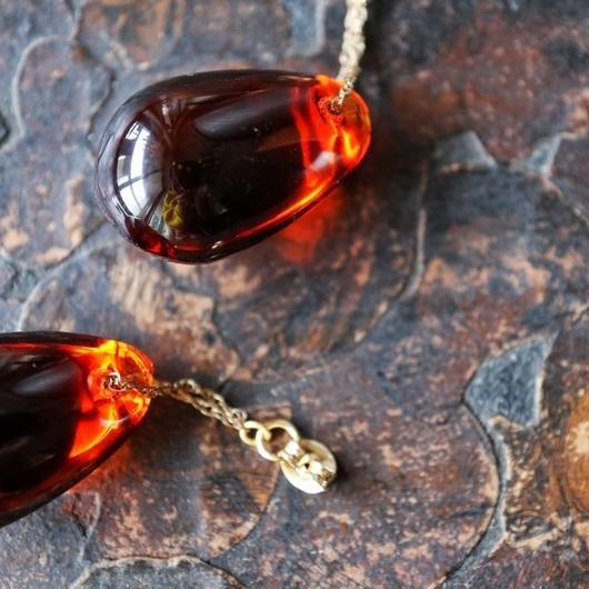 vintage glass pierce (umber)