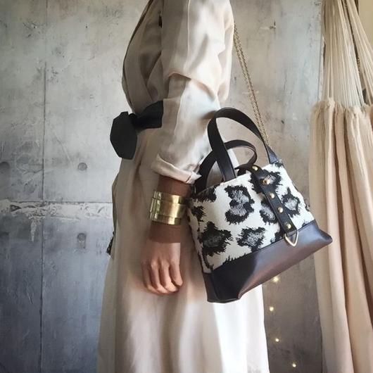 leopard pattern 2way tote bag