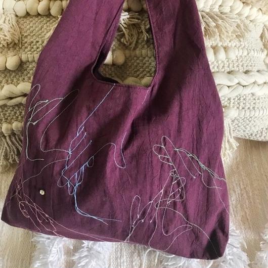marche bag (wine red)