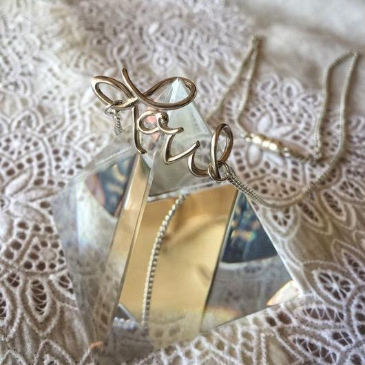 message charm necklace