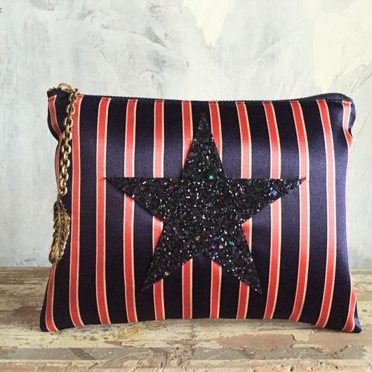 star pouch ☆ (red stripe)