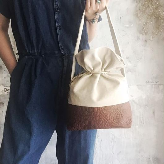 leather & canvas bag (brown)