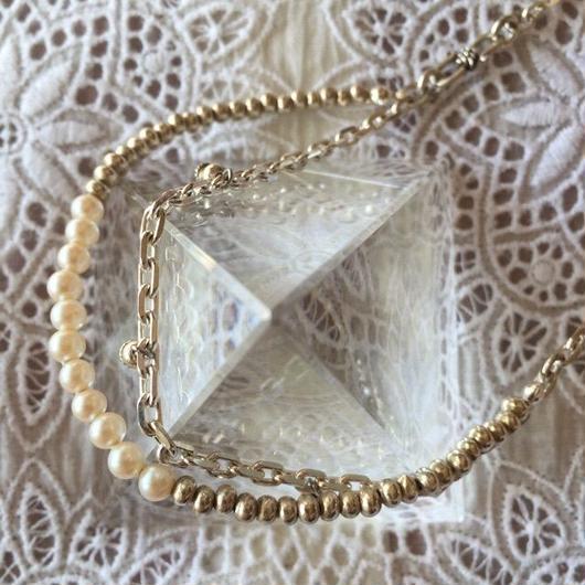 karen silver& Japan vintage Pearl necklace