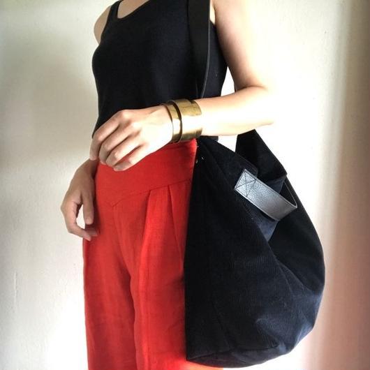 corduroy 2way tote bag
