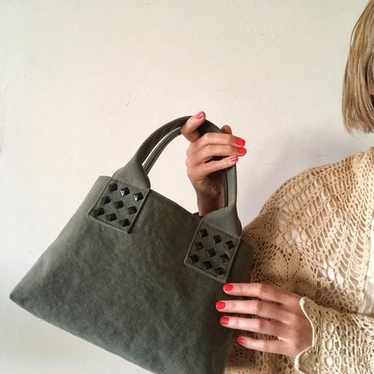 canvas tote bag mini (khaki)