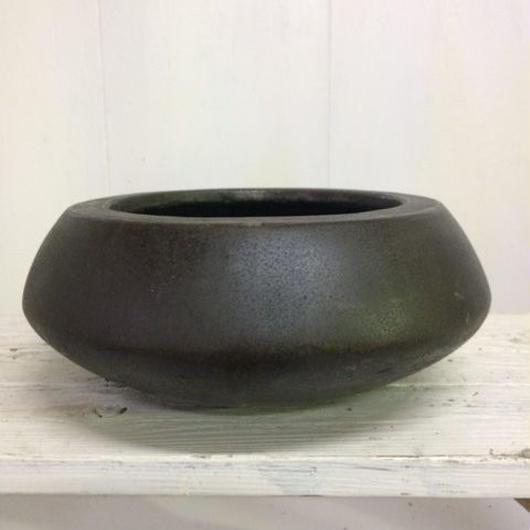 平鉢 ダークブラウン Mサイズ 植物鉢