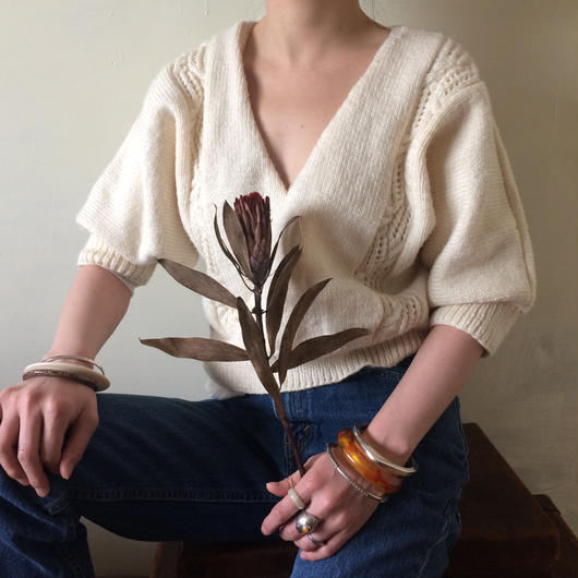 circa 1970s hand knit top