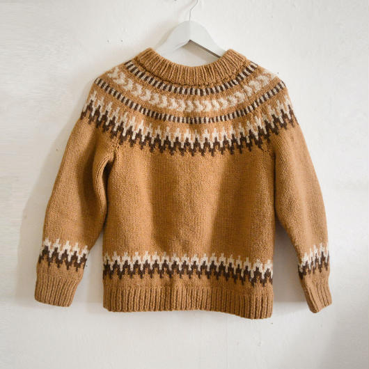 vintage hand-knit Nordic sweater