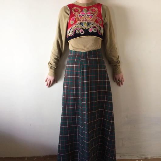 1960s/1970s tartan maxi skirt