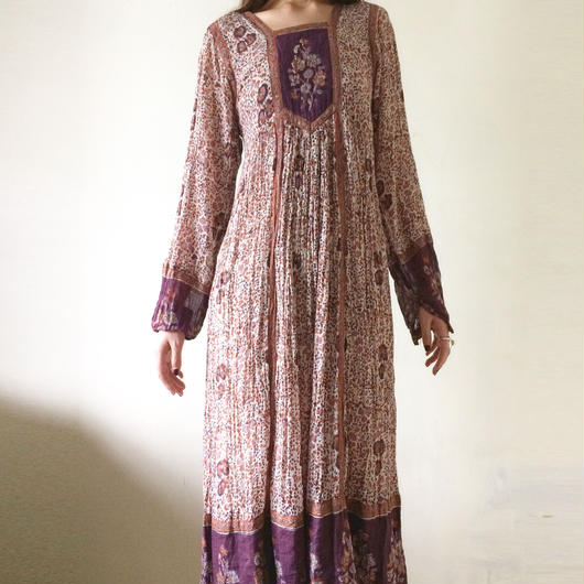 1970s Indian cotton dress