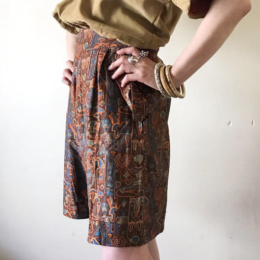 1930s ethnic printed shorts