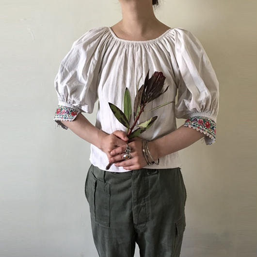 early - Mid 20th c. linen folk blouse
