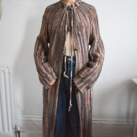 1970s long knit cardigan