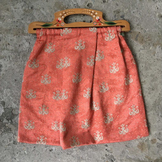 mid 20th c. wooden handle bag