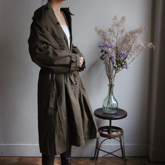 1940s/1950s French army motorcycle coat