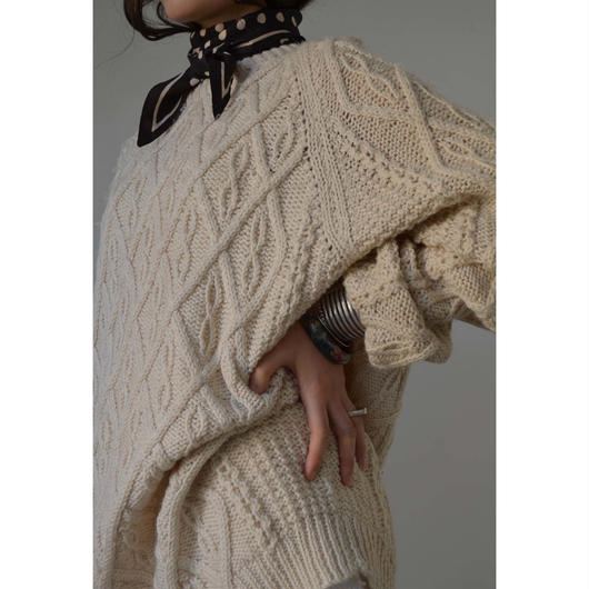 vintage cable hand knit jumper