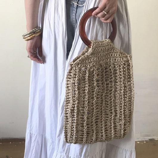 1970s woven hand bag