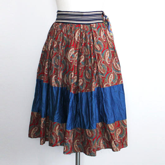 Mid 20th c.  paisley printed skirt