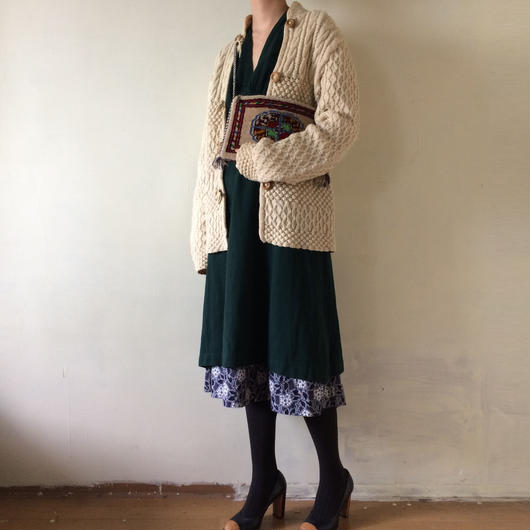 vintage alan knit  cardigan