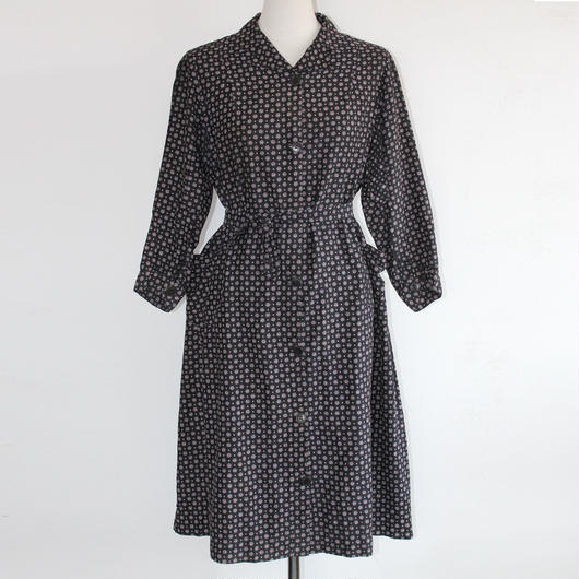 1940s printed dress / coat