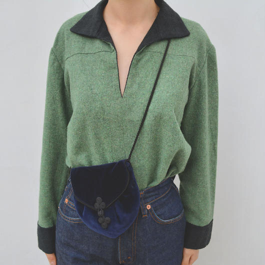 1940s green wool  top